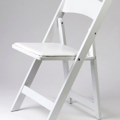 Chair Rental Chicago Ikea Poang Cushion Party On Rent Wedding White Wood Padded Folding Chairs