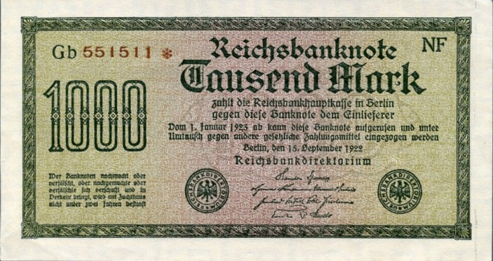 German Paper Money Value