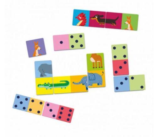 Spel Educatief Domino Nummers En Dieren Clementoni