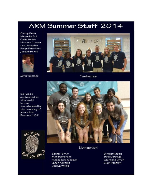 Our 2014 Summer Staff