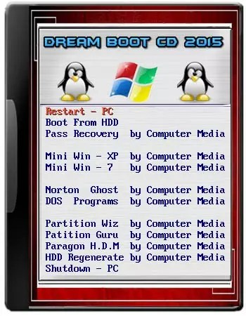 Dream Boot CD 2015 (Multi Rescue Disk ) (recovery Tools ) Updated Link 2017 By CmTeamPk