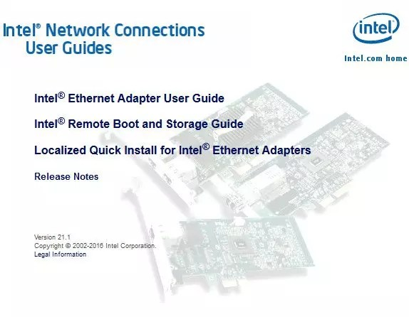 Intel Ethernet Connections CD 22.7.1+{Latest} 2017