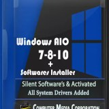 Windows AIO 7-8-10 x86x64 (28In1)+Software Installer