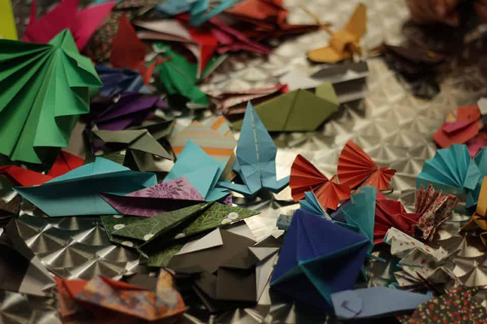 Photo d'origamis - décoration La Fête #2