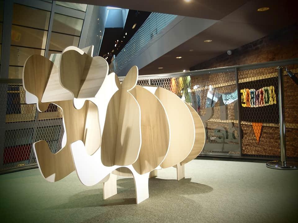 Photo décoration - Hippopotame en bois