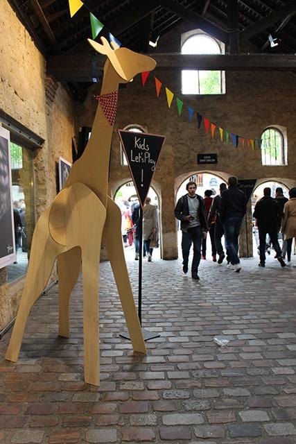 Photo - La girafe en bois
