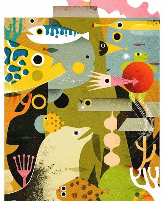 Illustration Mercredi - L'océan vu par Philip Giordano