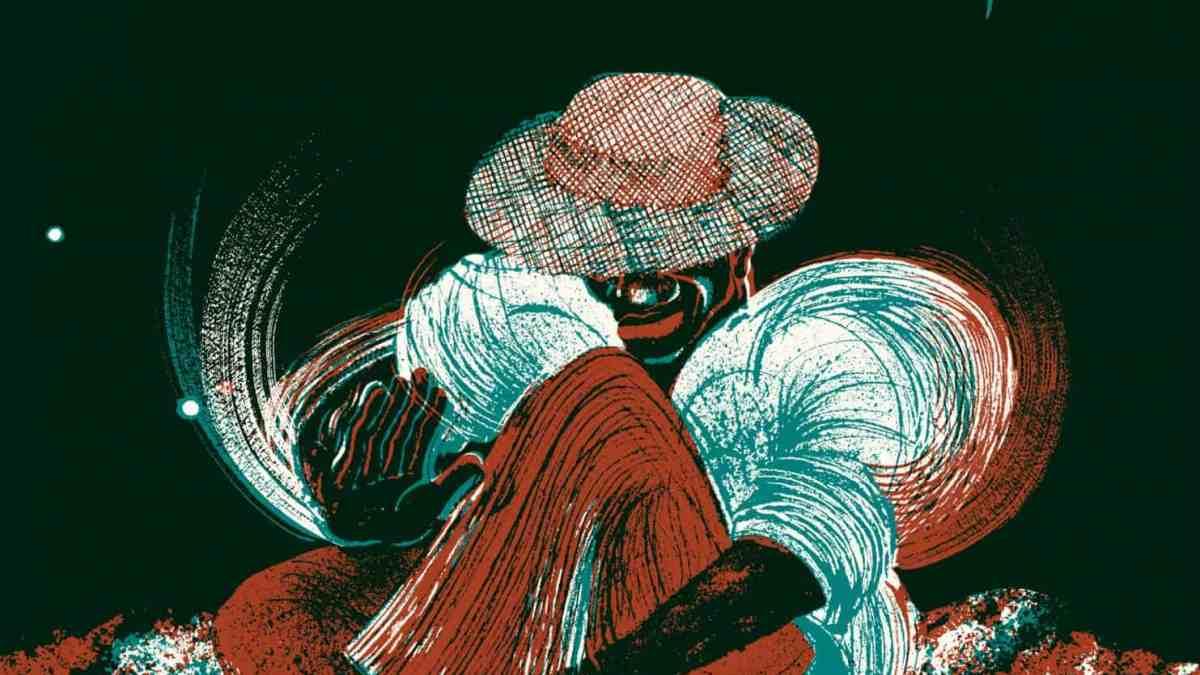 Illustration Alice Bossut - Un personnage dessiné joue des percussions