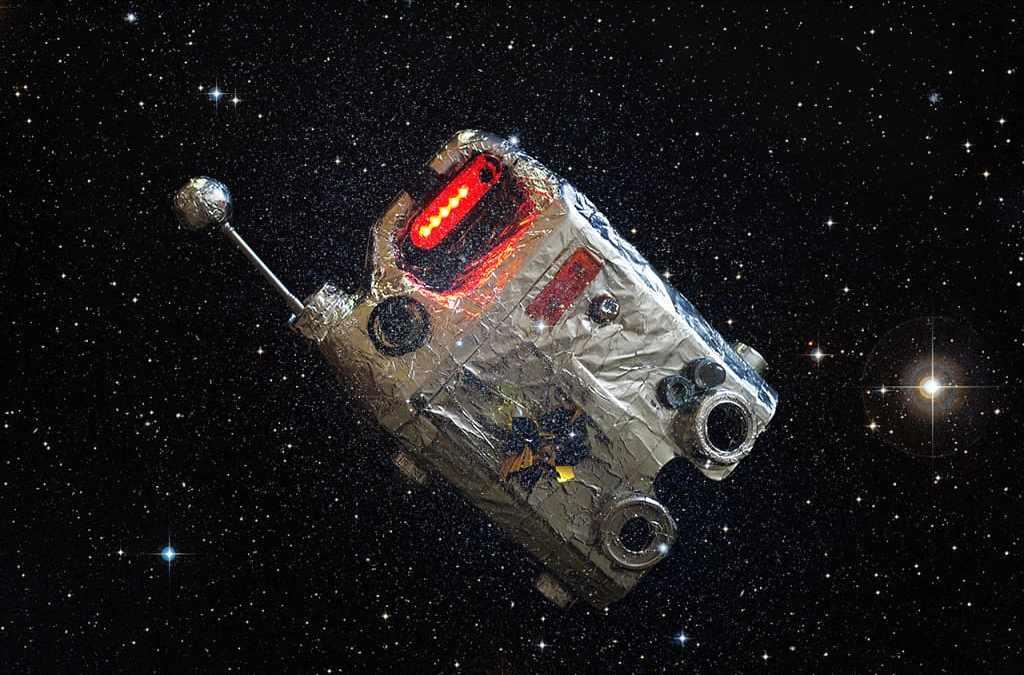 Illustration Mercredi - photomontage d'une radio perdue dans l'espace