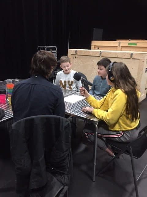 Photo / enregistrement émission avec des enfants