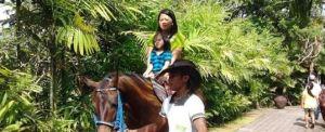 Outbound di Bali – Kertalangu Cultural Village Denpasar Naik Kuda