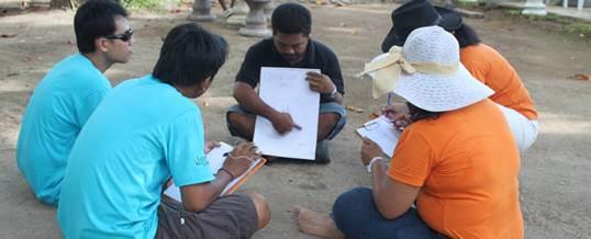 Team Building di Bali - Pantai Mertasari Sanur - Diskusi Leader