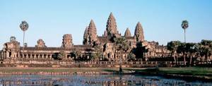 The temple of Angkor Wat is awe-inspiring