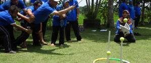 Bali Outbound Ubud Camp Tangkap Bola