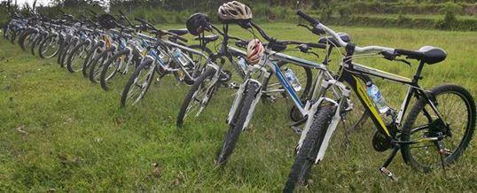 Outing Bali Cycling & Tubing Adventure Ubud Camp 032015