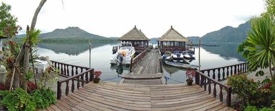 Lokasi Outbound Di Tepi Danau Batur Kintamani Bali - Resto Apung