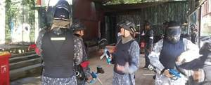 Outbound Di Bali Kombinasi Paint Ball Di Bongkasa Group A