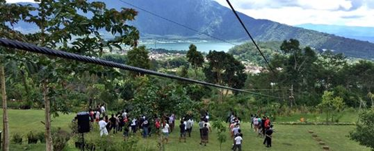 Outbound di Bali Agro Puncak Flying Fox