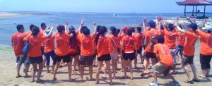 Outbound di Bali - The Susshi Bar Hore-hore