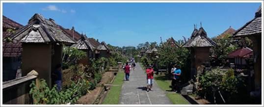 Outbound di Bali Rumah Tradisional Desa Penglipuran Bangli 21062016