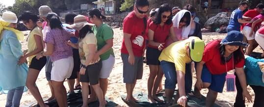 Fun Team Building - HSBC Jakarta - Pantai Padang Padang Bali 7