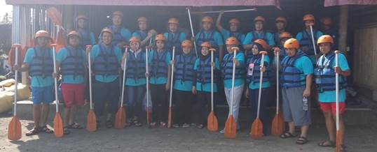 Gathering Tema Wisata Adventure Rafting - PT. Indo Global Trade 1