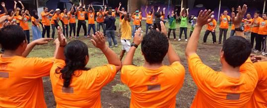Family Gathering di Bali - Hore - Jasa Raharja Cabang Bali