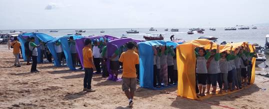 Oubound di Bali Team Building - Supporting Kaisa Travel Jaya Tour - BNI 46 Divisi SPI - Bolduser
