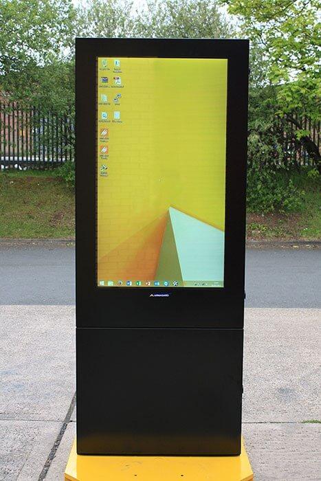 Outdoor Digital Screen  55 Totem Enclosure  Armagard Ltd