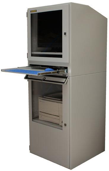 Industrie PC Schrank  IP54 Schutz fr PC und Drucker als