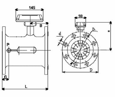 Счетчик газа СТГ турбинный, сигнализатор загазованности