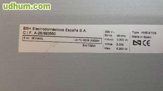 PLACA INDUCCION MIXTA BALAY 3EM900L