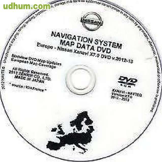 DVD GPS NISSAN NAVTEQ XANAVI X6/X7 EUR 2