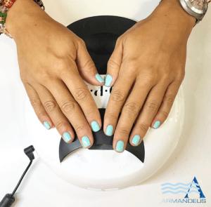 Summer nail colors done at Salon Armandeus Doral