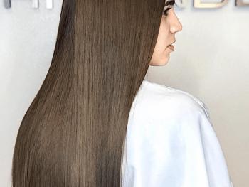 Japanese hair straightening done at Salon Armandeus Weston