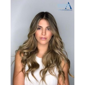 Makeup and hairstyle done at Salon Armandeus Doral