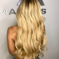Hair extensions and style done at Salon Armandeus Weston