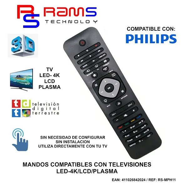 MANDO COMPATIBLE PHILIPS RS-MPH11 - RAMS