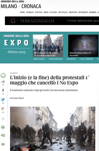 Corriere della sera su Expo