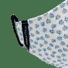 Mascarilla estampada flores azul 4