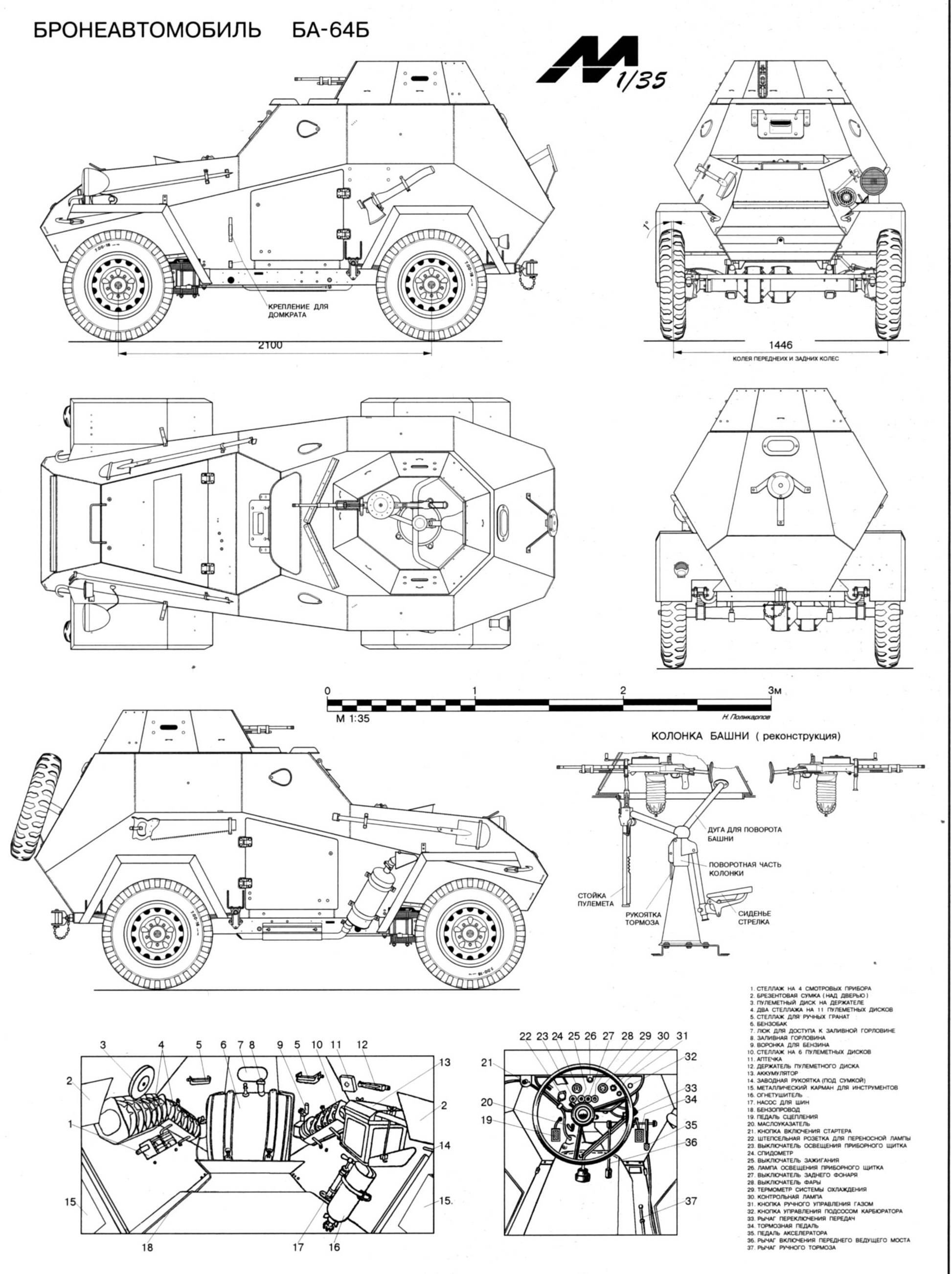 Ba 64 Armored Car Blueprints