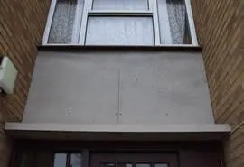 Asbestos refurbishment and demolition survey - Asbestos cement external building panel