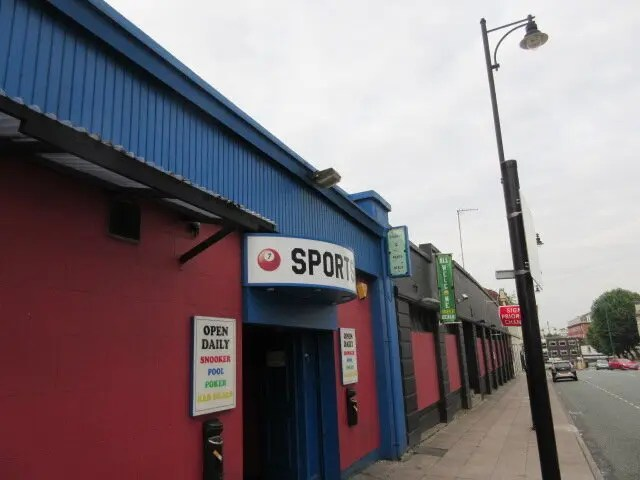 Asbestos surveys Stockport - Crucible snooker club in Stockport