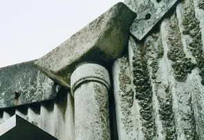 Asbestos cement downpipe, hopper and profile sheet