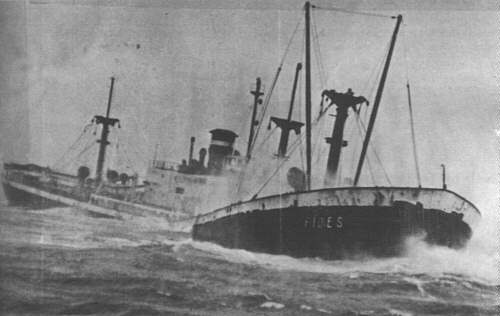 SS James A Wilder later as wrecked Italian Fides