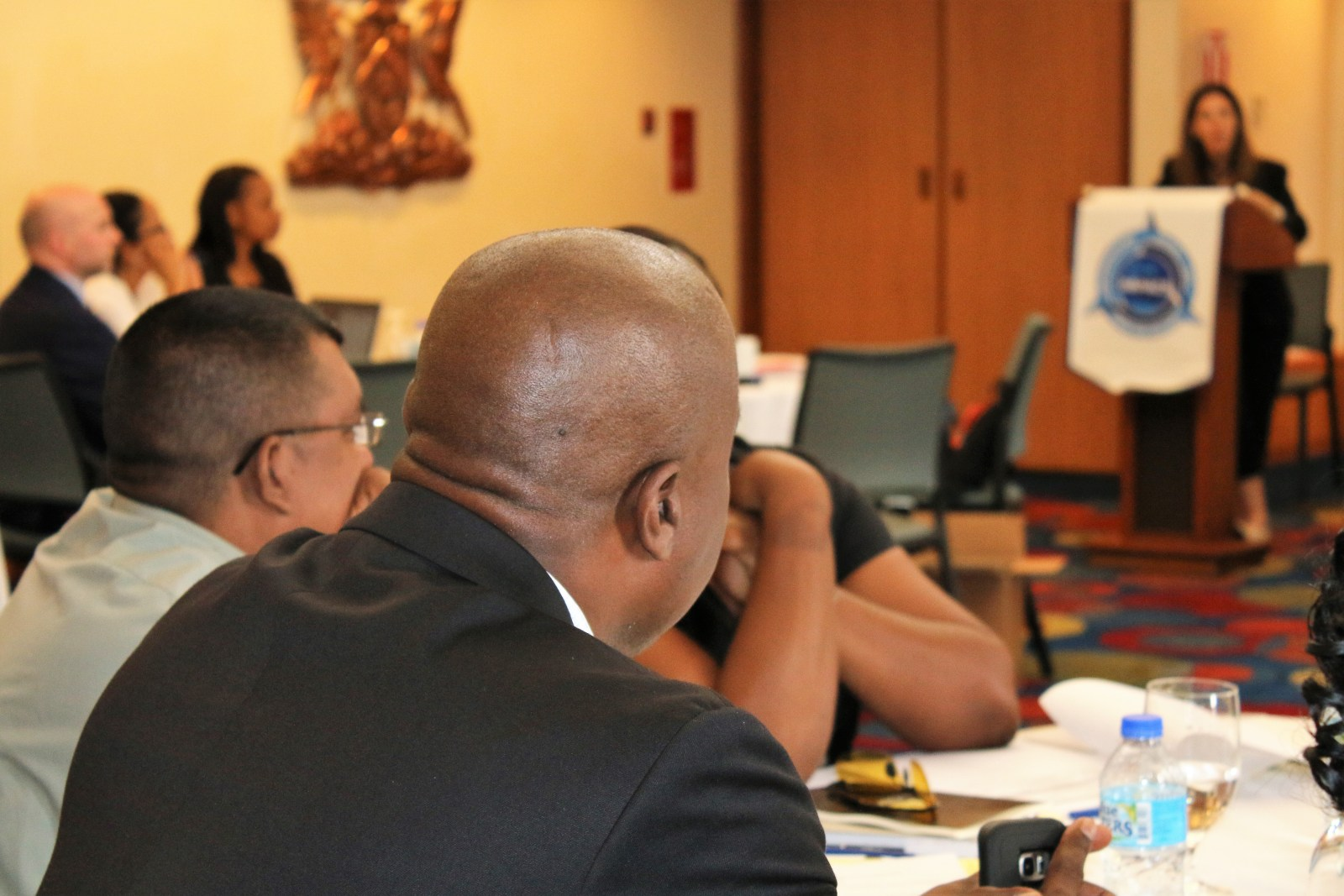 Participants at arms control workshop in the Caribbean