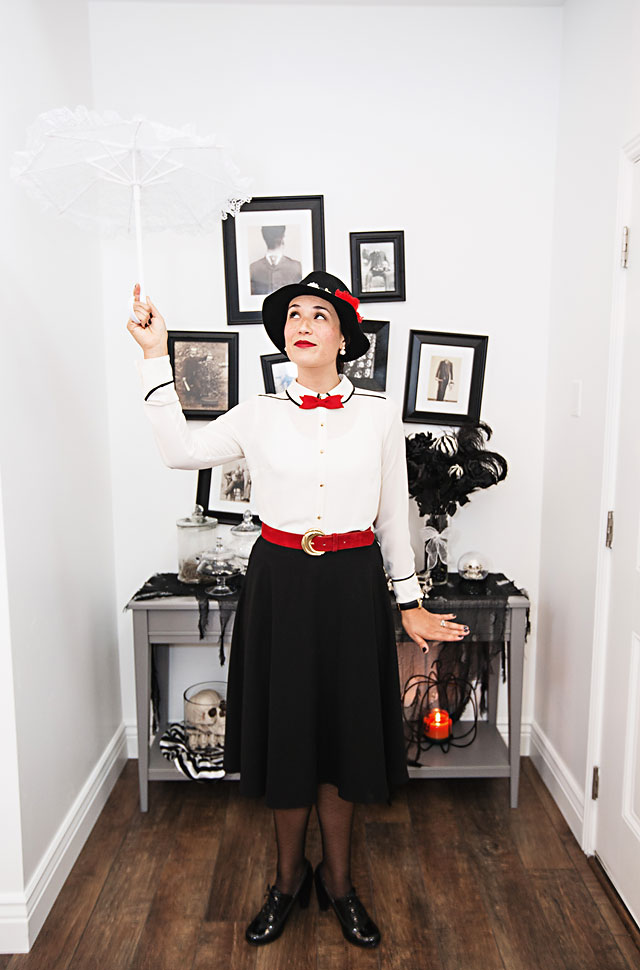 DIY  Mary Poppins Costume from your Closet   Armelle Blog