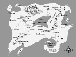 Fantasy Map for The Warders series