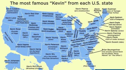 famous kevins from each state