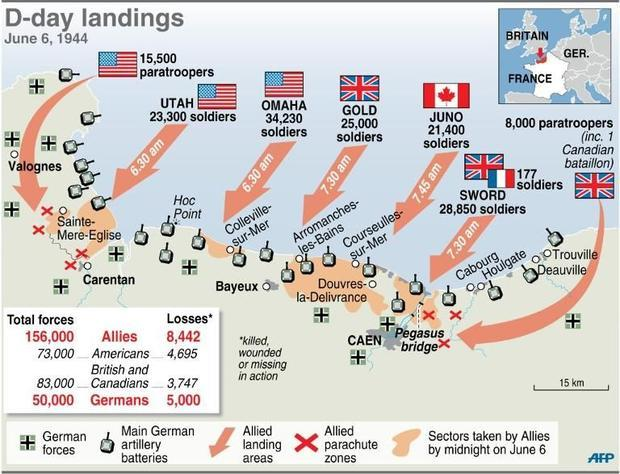 Map Monday, D-Day Invasion Facts on
